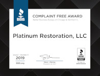 Better Business Bureau Complain Free Certificate